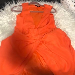 Fashion Nova Orange Slit dress